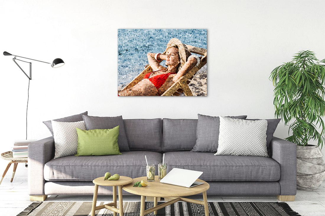 mock up posters in living room interior. Interior scandinavian s